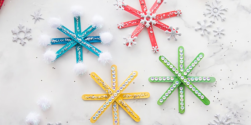 Snowflake craft kit to do at home