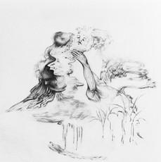 Untitled, 22 x 22 cm, graphite on paper, 2020