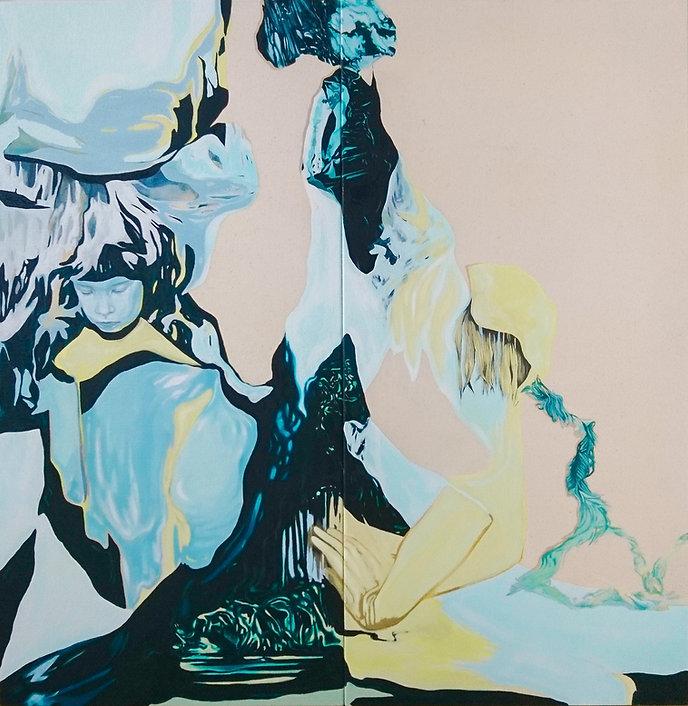 Oil on canvas, contemporary art, woman artist, emerging artist, London artist