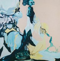 (Sold) Whisking, diptych, 96 x 95 cm, oil on canvas, 2020