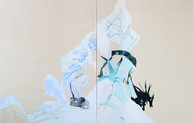 My whole body receives (time), diptych, 130 x 200 cm, oil on canvas, 2019