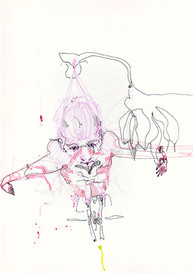 Untitled, 29.7 x 42 cm, ballpoint pen on paper, 2017