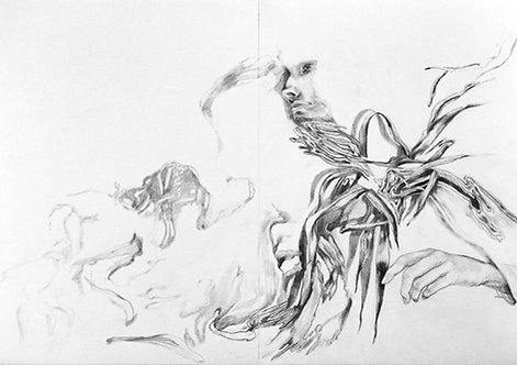 Untitled, Graphite on paper