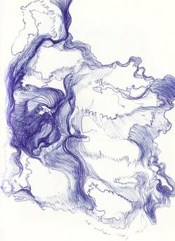 Untitled, 29.7 x 42 cm, ballpoint pen on paper, 2019