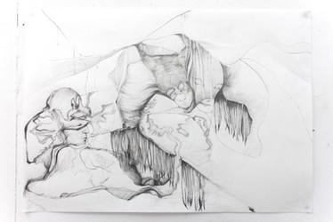 Untitled, 59.4 x 84.1 cm, graphite on paper, 2018