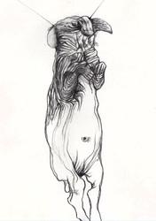 Untitled, 18 x 9 cm, graphite on paper, 2011