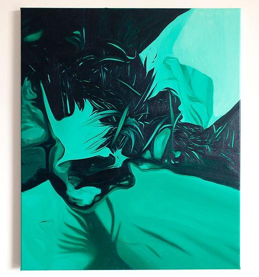 Travelling light, oil on linen, 60 x 50 cm, 2020