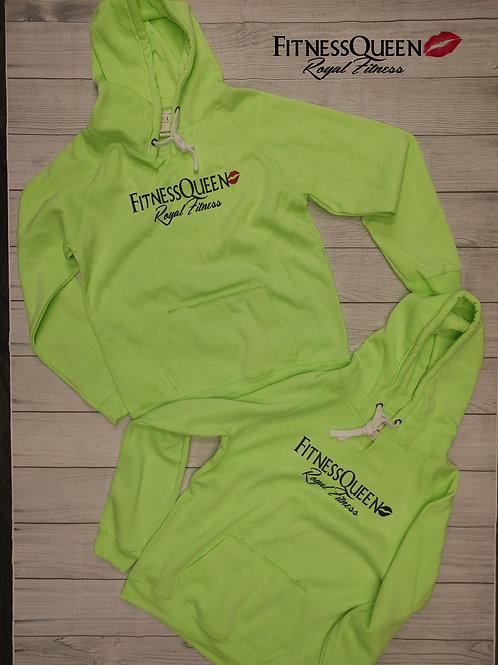 FitnessQueen Neon Green Hoodie