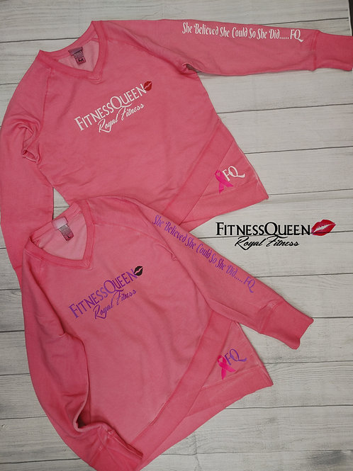 FitnessQueen Breast Cancer Sweatshirt