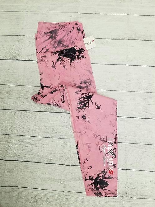 Plus Pink Tie Dye Leggings