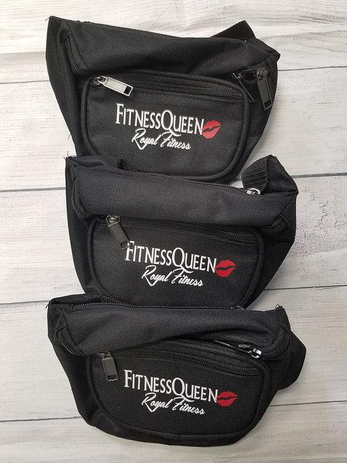 Black FitnessQueen Fanny Pack