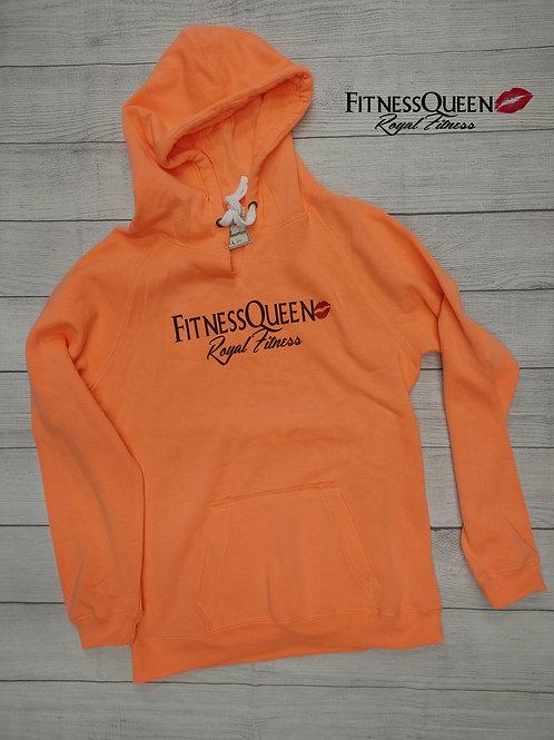 FitnessQueen Orange Hoodie