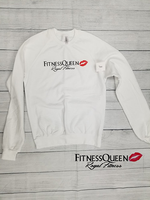 White FitnessQueen Sweatshirt