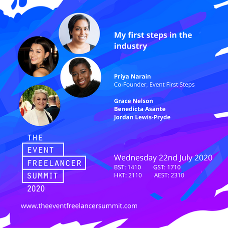 The Event Freelancer Summit: My first steps in the indsutry