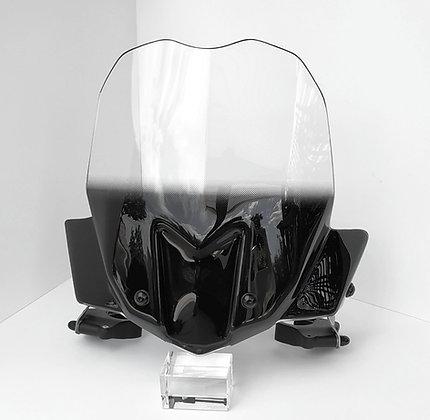 CLIPABLE WINDSHIELD TRANSPARENT BLACK - Bulle Pare-Brise Transparent Noir