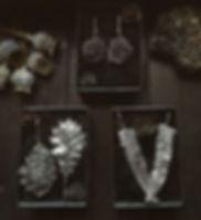 gioielli botanici realizzati a mano da Jenny per  Mathom