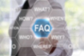 Businesswoman presses faq hexagon button
