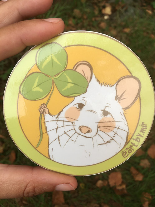 "VINYL STICKER - 3.5"" - Clover Mouse"