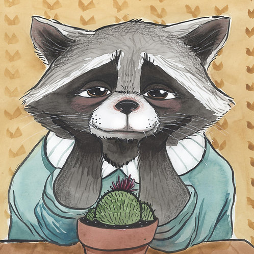 8x10 PRINT - The Raccoon