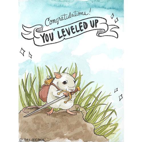 Greeting Card - You Leveled Up!
