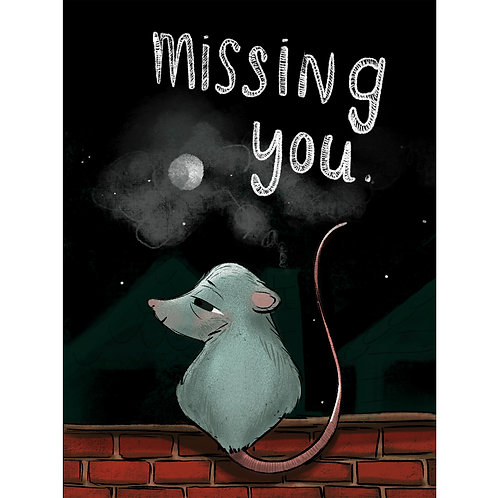 Greeting Card - Missing You Mouse