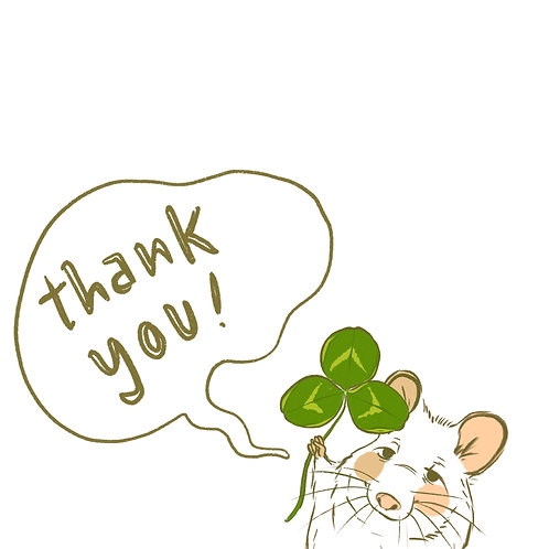 GREETING CARD - Thank you mouse