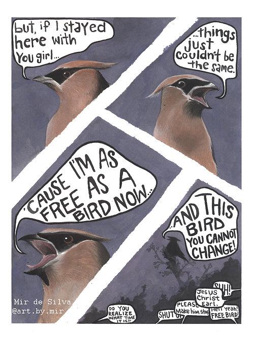 8x10 PRINT - Freebird