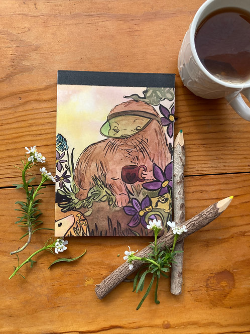 NOTEPAD - Otter - 5 x 7, with  28 custom & repurposed tear-away pages
