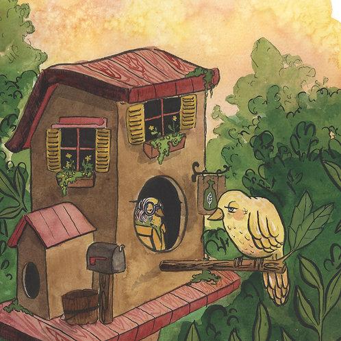 8x10 PRINT - The Birdhouse