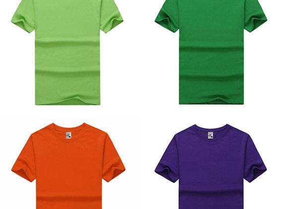 חולצות כותנה איכותיות להדפסה במגוון צבעים