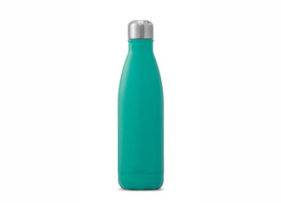 """בקבוק נירוסטה מעוצב טורקיז חלק 500 מ""""ל"""