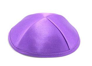 כיפת סאטן איכותית עם בטנה  בצבע סגול