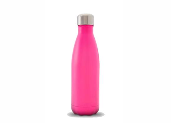 """בקבוק נירוסטה מעוצב ורוד חלק 500 מ""""ל"""