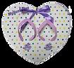 מוצרי פרסום מיוחדים כפכפים בצורת לב בהדפסה מלאה אול אובר