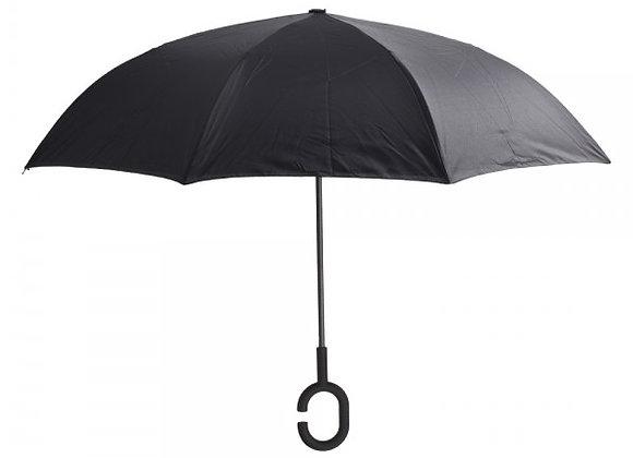 מטריה מתהפכת בצבע שחור