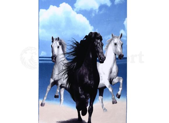 לונג מלבני ענקי | לונג מלבן גדול דגם סוסים