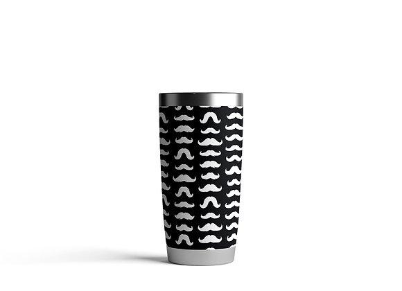 כוס תרמית ממותגת שפמים