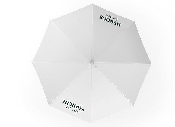 מטרייה ממותגת עם לוגו