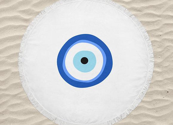 מגבת חוף עגולה עין הרע