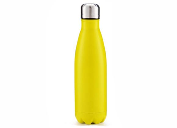 """בקבוק נירוסטה מעוצב בצבע צהוב חלק 750 מ""""ל"""