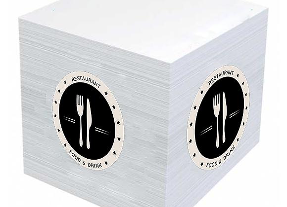 קוביית נייר ממו ממותגת בהדפסה מלאה