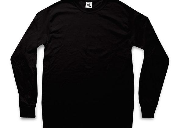 חולצת טי שירט ארוכה בצבע שחור