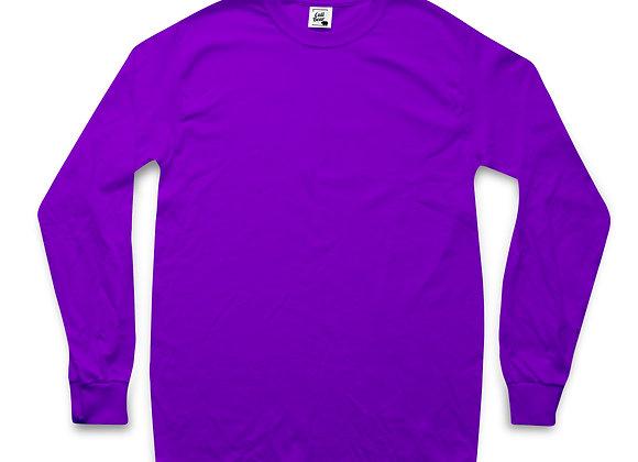 חולצת טי שירט ארוכה בצבע סגול