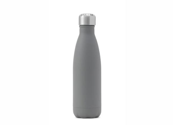 """בקבוק נירוסטה מעוצב אפור חלק 500 מ""""ל"""