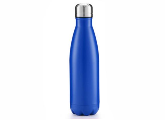"""בקבוק נירוסטה מעוצב בצבע כחול ים 750 מ""""ל"""