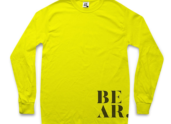 חולצה ארוכה לנשים בצבע צהוב עם לוגו