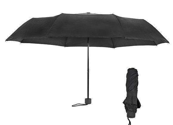 מטריה מתקפלת 3 חלקים בצבע שחור