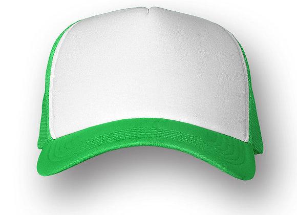 כובע רשת ממותג בצבע ירוק
