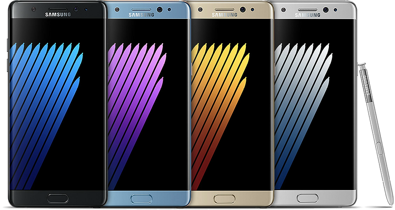 samsung galaxy note 7 at wholesale prices only at 26mobile Available in four stunning colors: Black Onyx, Blue Coral, Gold Platinum and Silver Titanium.