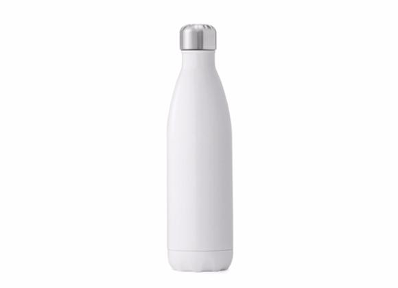 """בקבוק נירוסטה מעוצב לבן חלק 500 מ""""ל"""